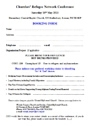 CRN conf booking form 2013