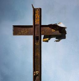 back of the cross at Ground Zero