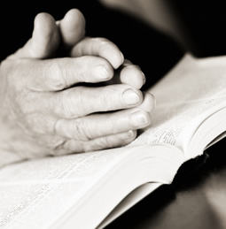 hands together in prayer