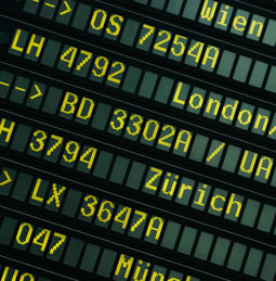 airport departures sign