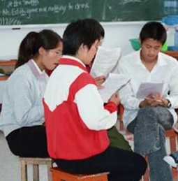 Chinese students in class
