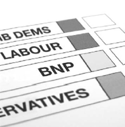a ballot paper including the BNP