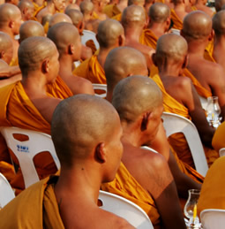 a group of Buddhists
