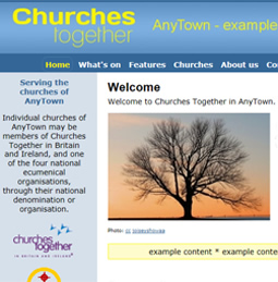 Local Churches Together website example