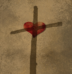 Cross with a heart
