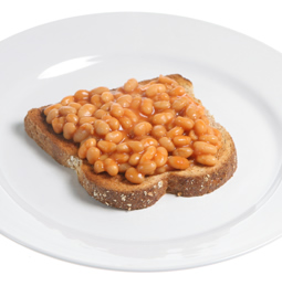 A plate of baked beans